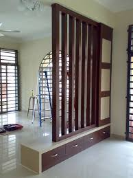 interior admirable brown wooden railing room divider with
