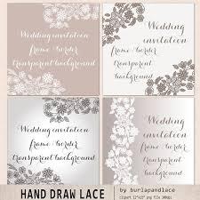 wedding invitations borders wedding invitation lace border illustrations creative market
