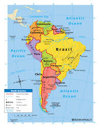Physical Map North America by South America Maps Maps Of South America Ontheworldmapcom Map Of