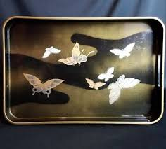 butterfly serving platter melamine butterfly serving tray 16 5 8 x 11 3 16 smithsonian