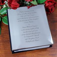 engraved wedding album engraved wedding album personalized wedding invitation album