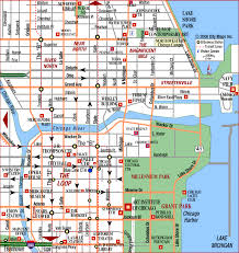 chicago tourist map chicago map travel map vacations travelsfinders com