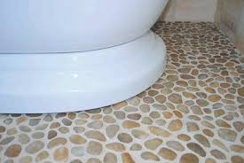 polished yellow pebble tile