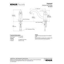 kohler fairfax kitchen faucet kohler fairfax kitchen faucet parts ppi