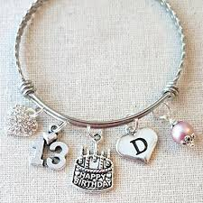 birthday charm bracelet 13th birthday girl bracelet happy 13th birthday charm