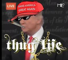 Thug Life Meme - trump tells hillary she d be in jail thug life citizens for trump