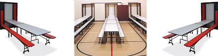cafeteria benches in wall cafeteria tables folding equipment company llc