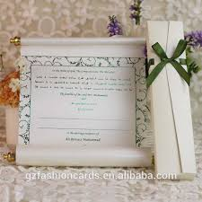 Weddings Cards Scroll Wedding Invitation Card Arabic Wedding Cards 2015