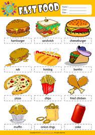 fast food esl printable worksheets for kids 1