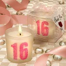 candle party favors sweet 16 votive candle favor