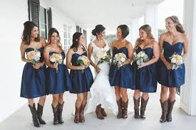 bridesmaid dresses with cowboy boots rustic chic estate wedding navy blue bridesmaids rustic