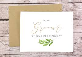 to my groom on our wedding day card to my groom on our wedding day card fps0060