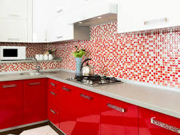 White And Red Kitchen Curtains by Design White And Red Contemporary L Shape Kitchen Cabinet Mosaic