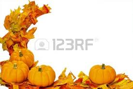 Small Pumpkins Three Small Pumpkins On Fall Leaves Isolated On White Stock Photo