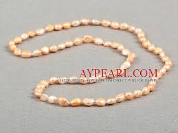 natural pink pearl necklace images Simple fashion long style natural pink baroque pearl necklace jpg