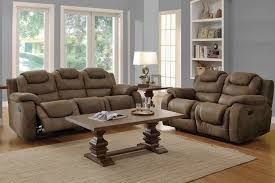 furniture brown reclining sofa set match with hardwood flooring