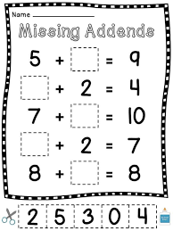 ideas about first grade missing number worksheets easy