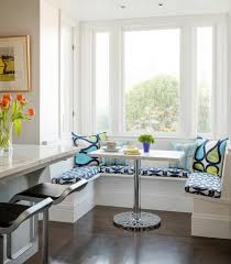 kitchen nook table ideas white and blue breakfast nook design ideas