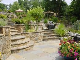 Landscaping Ideas For Sloped Backyard by 20 Sloped Backyard Design Ideas Designrulz Sloped Front Yard