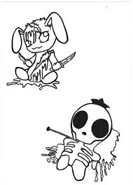 bloody bunny n voodoo doll by variouslove on deviantart