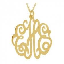 Monogram Initials Necklace Monogram Initial Necklaces Personalized Boutique Inc