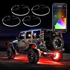ring light effect app xkglow 4pc 15 wheel ring light kit turn signal function halo led