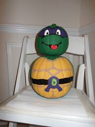 the craft halloween teenage mutant ninja turtle donatello pumpkin i made this using