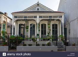 french quarter new orleans louisiana double shotgun house with