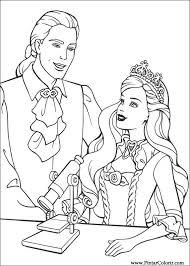 drawings paint u0026 colour barbie princess print design 010