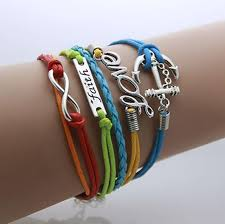 wrap bracelet with anchor images Anchor leather bohemian infinity wrap bracelet the shopping passion jpg