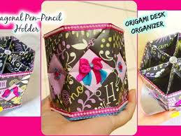 Origami Desk Organizer Origami How To Make An Easy Origami Paper Flower Diy Crepe