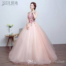 100 real light pink flower embroidery ball gown medieval dress
