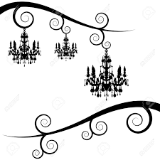 Free Chandelier Clip Art An Image Of A Swirl Branches With Chandelier Royalty Free