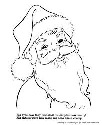 santa christmas coloring pages santa u0027s rosy cheeks