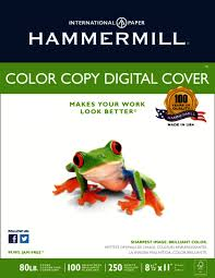 hammermill color copy paper 8 12 x 11 80 lb pack of 250 sheets by