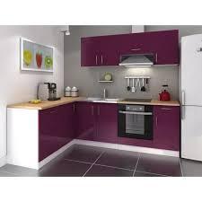 cuisine aubergine et gris cuisine complete 280 cm laqué aubergine cosy pas cher achat