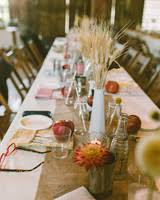 fall centerpieces 66 rustic fall wedding centerpieces martha stewart weddings