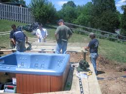 Building Decks And Patios by How To Install A Tub Deck Bench How Tos Diy
