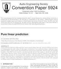 Bilinear Map Aes E Library Pure Linear Prediction