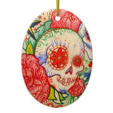 mexican sugar skulls tree decorations ornaments