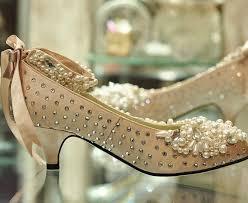 Wedding Shoes Small Heel Low Heel Wedding Shoes With The Pearls On The Top 2050463 Weddbook