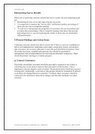 cover letter for customer satisfaction survey client satisfaction