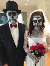 Halloween Bride Groom Costumes Skeleton Bride Groom Halloween Engagement Party Engagement Party