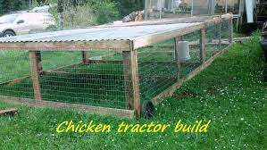 how to build a portable chicken tractor coop part 1 youtube