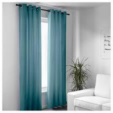 sanela curtains 1 pair light turquoise 140x250 cm ikea