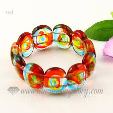 murano glass beads bracelet images Stretch lampwork murano glass beads bracelets jewelry wholesale jpg