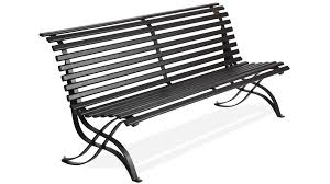 outdoor metal bench seat and back in oval tube model liberty