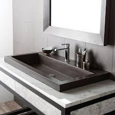 bathroom trough sink native trails trough stone rectangular drop in bathroom sink