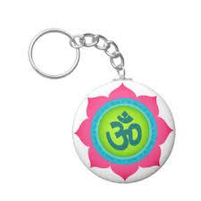 Lotus Flower With Om Symbol - lotus flower keychains zazzle