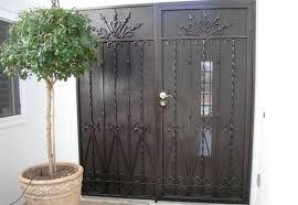 Residential Security Doors Exterior Wrought Iron Security Doors Screens San Diego Ca Storefront
